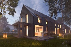 Vray Night Pro Setup Scene - House