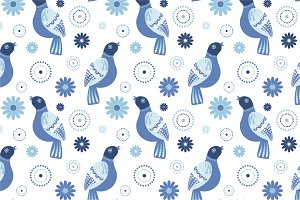 "Seamless pattern ""Birds"""