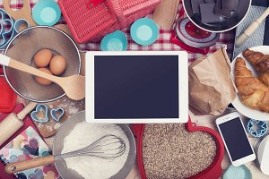 Tablet cooking hero header