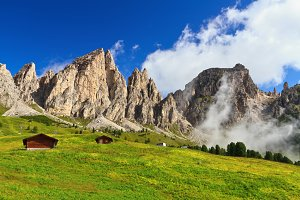 Dolomites in Badia valley