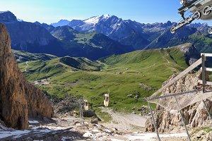 Sella pass from Sassolungo mount