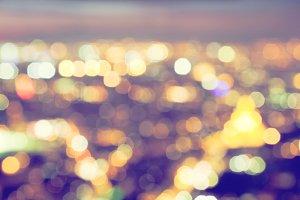 Blurred big city lights at night.