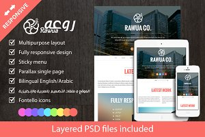 Rawua HTML Responsive Bi-lingual