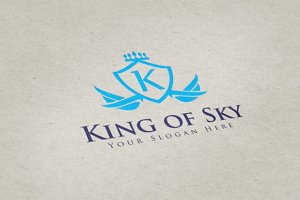 King of Sky Logo Templates