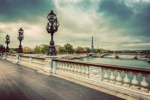 Pont Alexandre III in vintage.