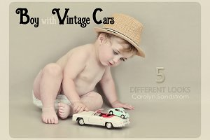 Boy with Vintage Cars