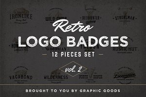 Retro Logo Badges vol. 2