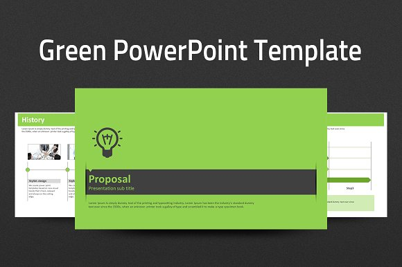 Green Powerpoint Template Strategy Presentation Templates