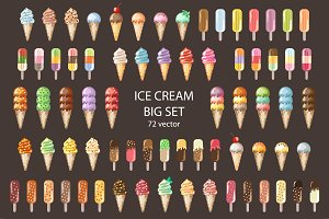 Ice Cream vector set.