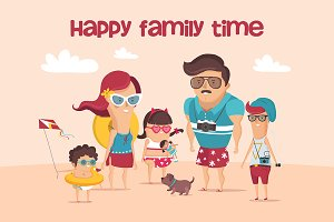 "Characters ""Happy family time"""