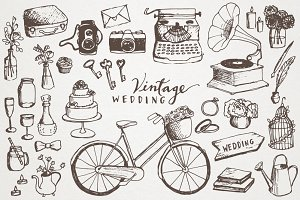 Vintage Wedding Illustrations