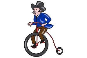 Gentleman Riding Penny-farthing