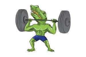 Sobek Weightlifter Lifting Barbell