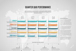 Quarter Bar Performance Infographic