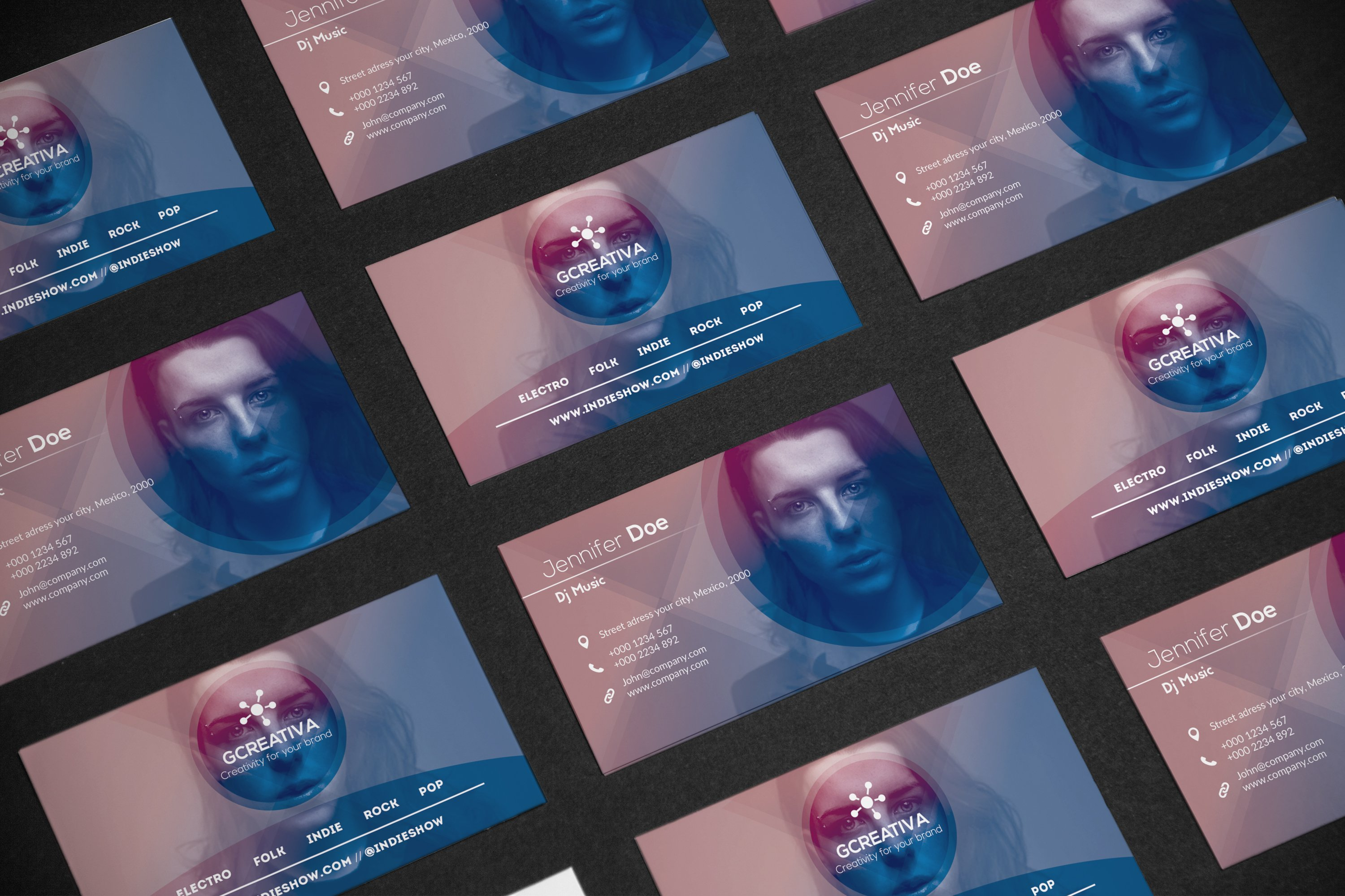 Business card dj music business card templates for Creative music business cards