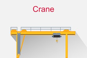 Crane Equipment Icon Design Style