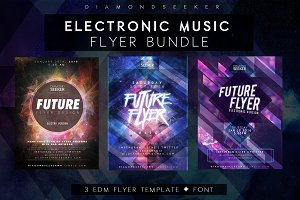 ELECTRONIC MUSIC FLYERS BUNDLE
