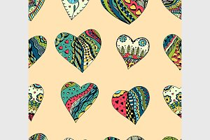 pattern of Tangle Patterns hearts