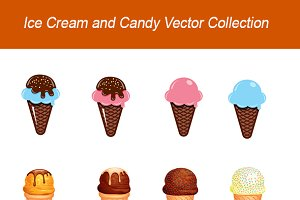 Ice Cream and Candy Vector Set