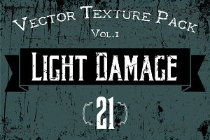 "21 Vector Textures - ""Light Damage"""