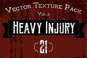 "21 Vector Textures - ""Heavy Injury"""
