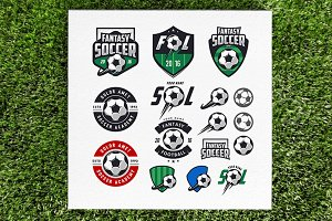 Soccer logos and design elemens