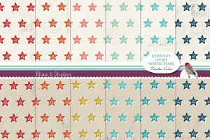 Offset Printed Star Digital Patterns