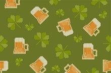 Pixels styled St. Patrick pattern