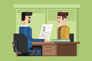Job interview flat design