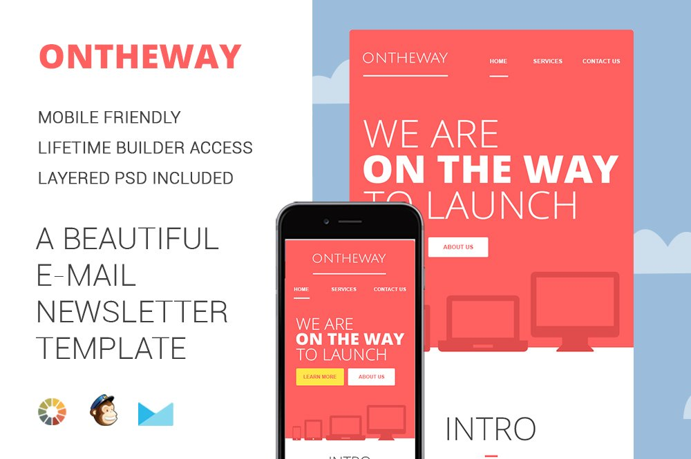 On The WayEmail Newsletter Template Email Templates Creative Market - Mobile friendly email templates