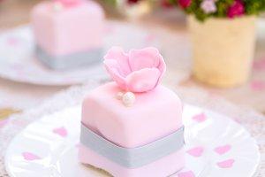 Romantic pink cake
