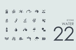 22 Water icons