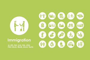 Immigration simple icons