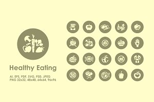 Healthy Eating simple icons