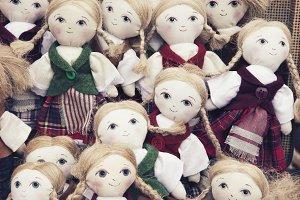 Handmade textile dolls