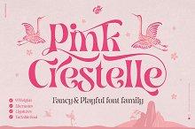 Pink Crestelle Font on Sale