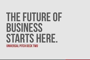 Universal Pitch Deck Two PowerPoint