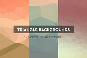 18 Geometric Triangle Backgrounds