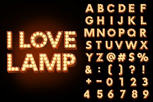 I Love Lamp - Alphabet