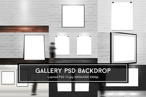 Gallery PSD Backdrop
