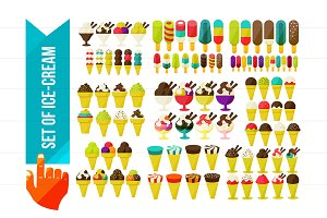 Big Set Of Ice Cream