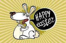 happy easter rabbit Vector