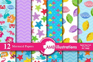 Mermaid Digital Papers AMB-1191
