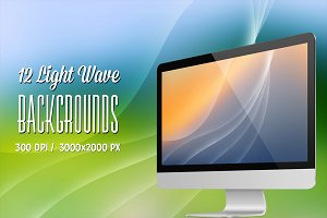12 Light Wave Backgrounds