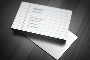 Paper Book Business Card Template