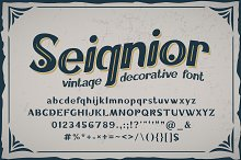Seignior - vintage font by  in Fonts