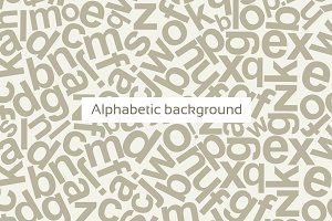 Alphabetic background