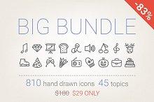 83% Off - Hand Drawn Icons Bundle