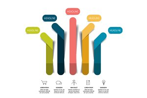 Arrow infographics flowchart scheme.