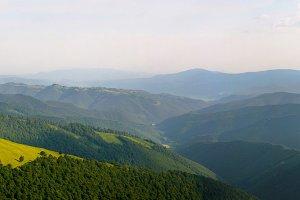 Carpathian mountains landscape